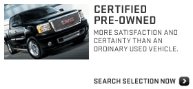 2012 GMC Certified Pre-Owned